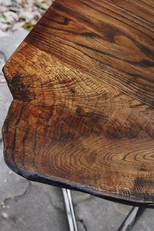 Industrialny stol z litego debu 4c626b 69346e