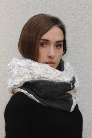 Szal chapoosie graywool white 002ca8