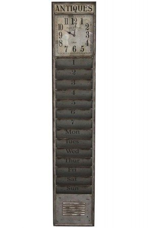 Zegar i listownik metalowy antiques 0236b3