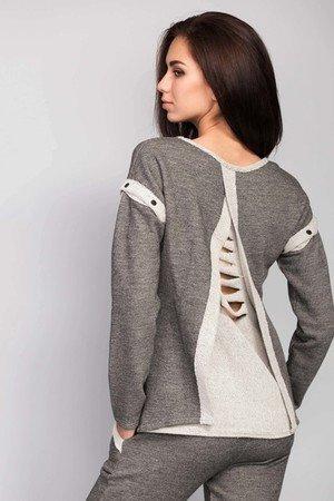 Oryginalny cieply sweter o prostym kroju 75d3f6