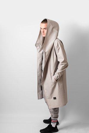 Hoodie grey oversize coat 33aa18