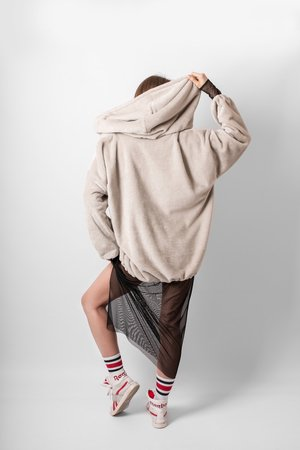 Oversize fluffy hoodie 129bc2