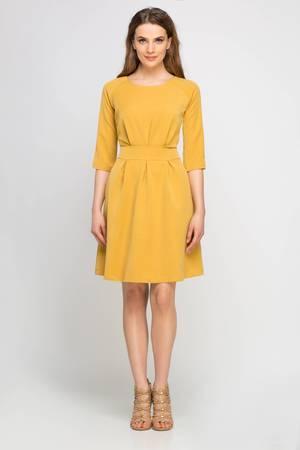 ee733453c0 Żółta Sukienka Z Falbankami - Żółty