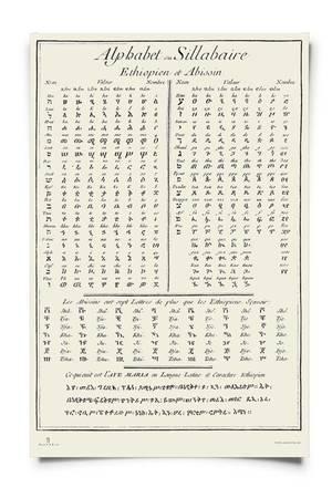 Plakat alfabety koptyjski i grecki
