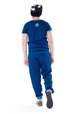 Crystal skull pocket t shirt navy blue