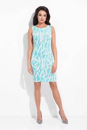 Sukienka sydey niebieska a la pollock