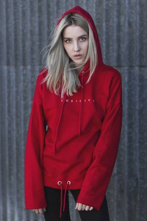 Wmns hive hoodie in red
