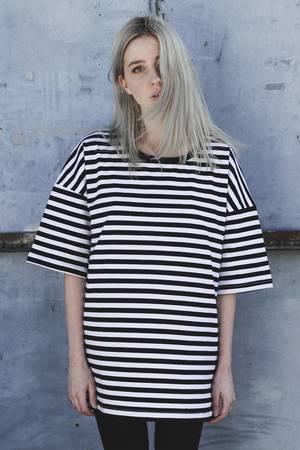 Oversized stripes tee