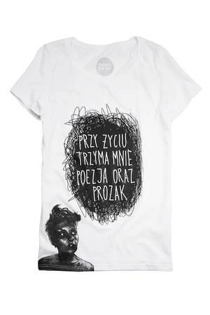 T shirt damski by marta frej poezja i prozak