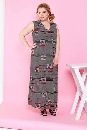 Letnia modna sukienka maxi