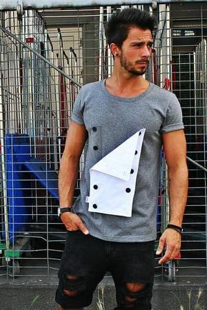 T shirt buttons tee unisex kolory