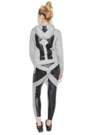 Spodnie dresowe ze skora contrast line