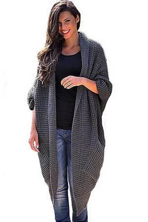 Dlugi sweter plaszcz