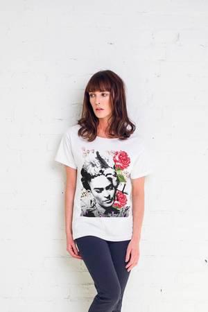 Frida flower t shirt oversize