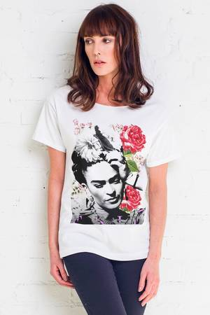 Frida flower t shirt oversize