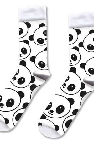 Skarpetki w pandy biale
