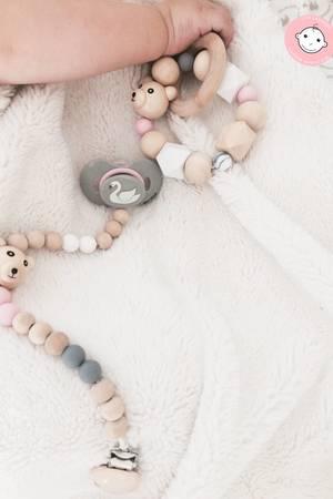 Gryzak grzechotka little bear baby girl