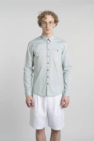 Slim soft green oxford shirt