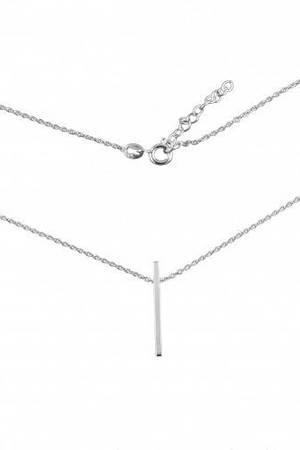 Srebrny naszyjnik minimalistyczny kreska