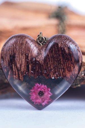Naszyjnik floral heart