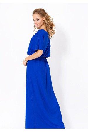 Sukienka longin maxi kobaltowa