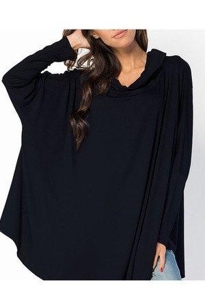 Bluzka bluza melange oversize czarna