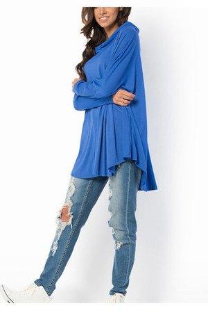 Bluzka bluza melange oversize niebieska kobaltowa