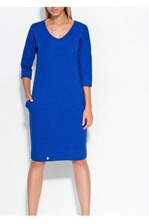 Sukienka some prosta niebieska