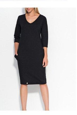 Sukienka some prosta czarna