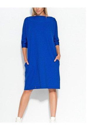 Sukienkamilo prosta niebieska