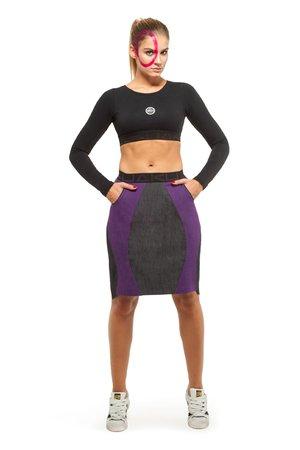 Nebula skirt violet