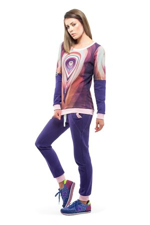 Orbit sweatshirt violet