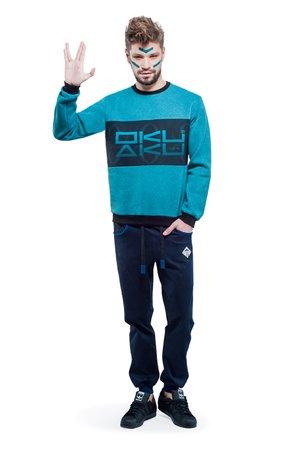 Logo sweatshirt turquoise