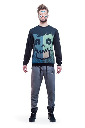Crystal skull sweatshirt green