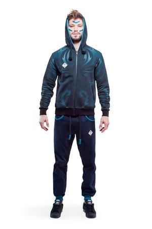 Carabus zip hoodie dark