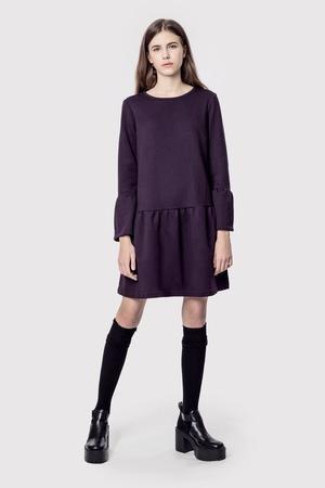 Sukienka bawelniana z kieszeniami basic romantic purple