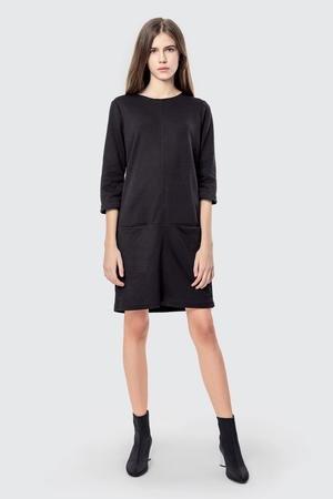 Sukienka bawelniana z kieszeniami basic smart black