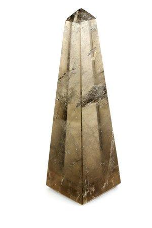 Obelisk kwarc dymny sredni