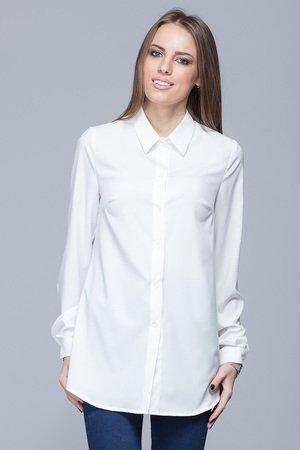 Elegancka koszula z kolnierzykiem ecru h025