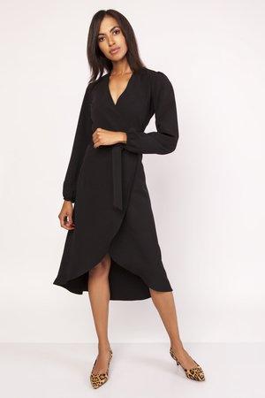 Asymetryczna kopertowa sukienka suk160
