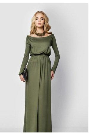 Sukienka long maxi khaki