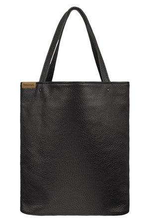 Shopper bag xl czarna teksturowana torba oversize vegan