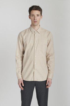 Koszula Harmony Bez Kołnierza Khaki Zielony   Delikatessen  XkOrQ