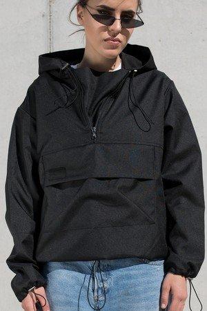 Softshell black hoodie