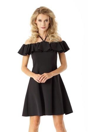 Rozkloszowana sukienka w stylu hiszpanki czarna ed018 4