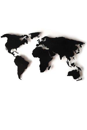 Stalowa mapa swiata sylwetka