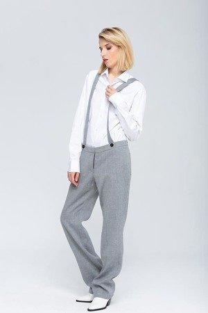 Margot luksusowe welniane spodnie na szelkach