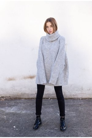 Sweter roll neck jumper