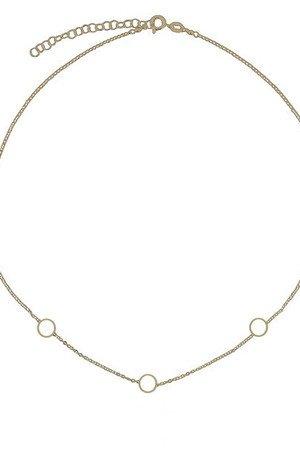 Srebrny pozlacany naszyjnik z koleczkami