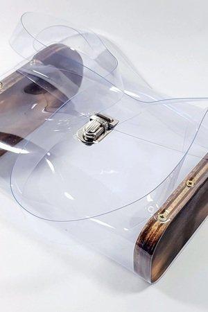 Transparentna torebka naramienna